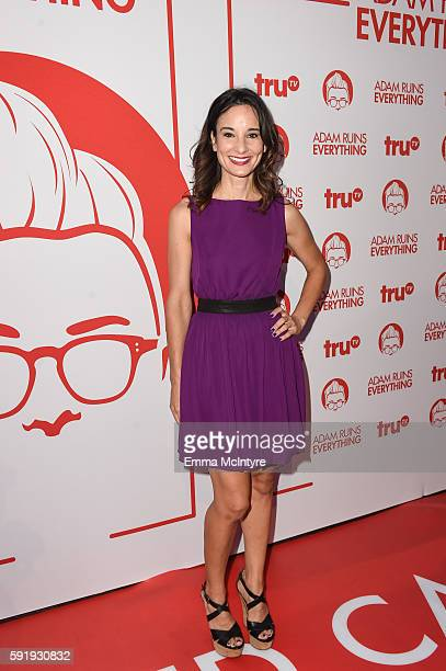 Actress Alison Becker attends the screening and reception for truTV's 'Adam Ruins Everything' at The Library at The Redbury on August 18 2016 in...