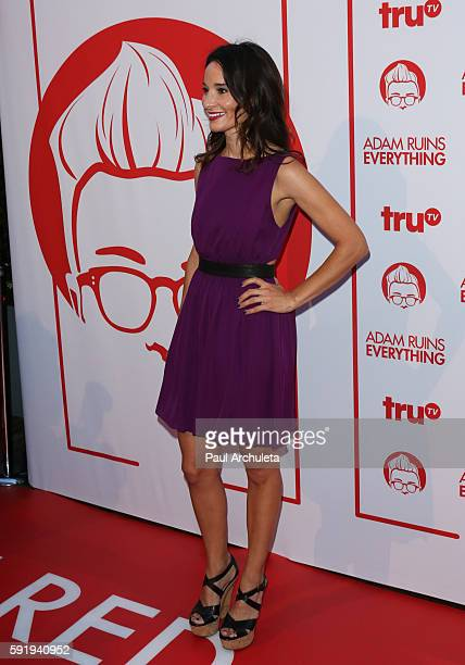 Actress Alison Becker attends the screening and reception for truTV's Adam Ruins Everything at The Library at The Redbury on August 18 2016 in...