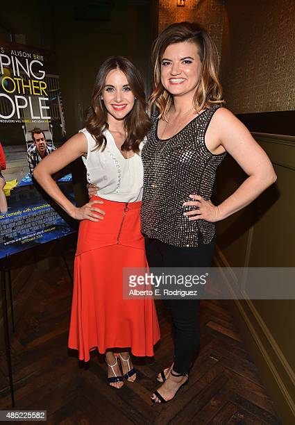 Actress Alison Brie and writer/director Leslye Headland attend a Tastemaker Screening of IFC Films' Sleeping With Other People on August 25 2015 in...