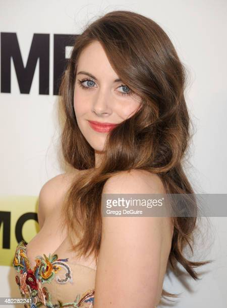 Actress Alison Brie arrives at AMC's Mad Men Season 7 premiere at ArcLight Cinemas on April 2 2014 in Hollywood California
