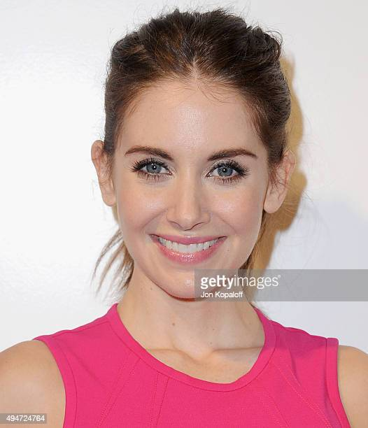 Actress Alison Brie arrives at MOCA's 9th Awards To Distinguished Women In The Arts at the Beverly Wilshire Four Seasons Hotel on October 28 2015 in...
