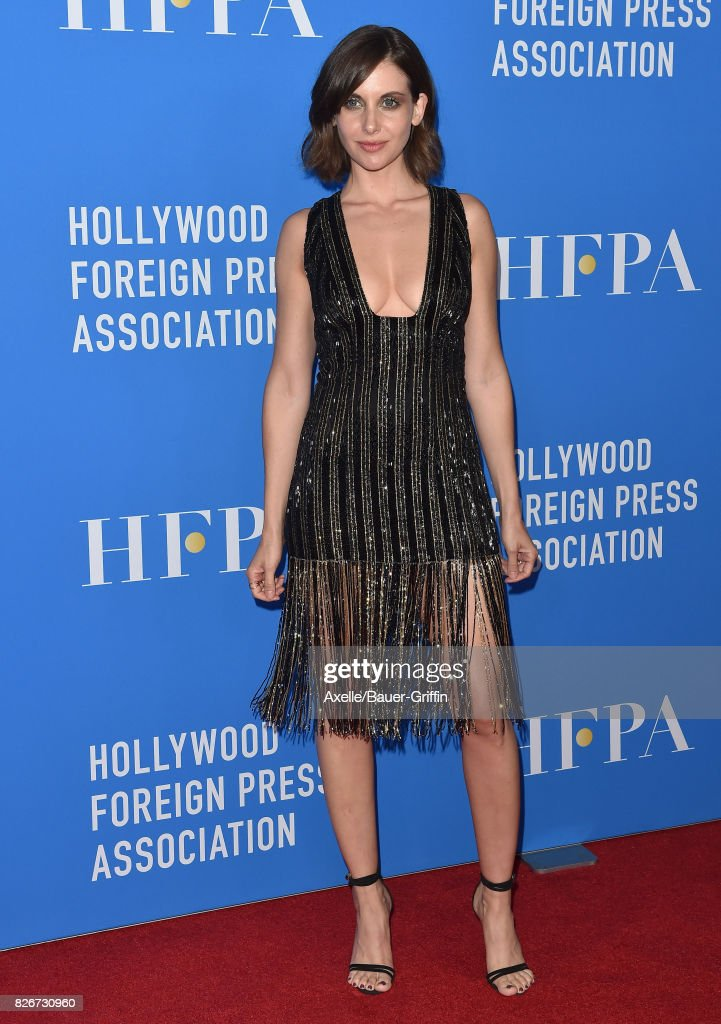 Actress Alison Brie arrives at the Hollywood Foreign Press Association's Grants Banquet at the Beverly Wilshire Four Seasons Hotel on August 2, 2017 in Beverly Hills, California.