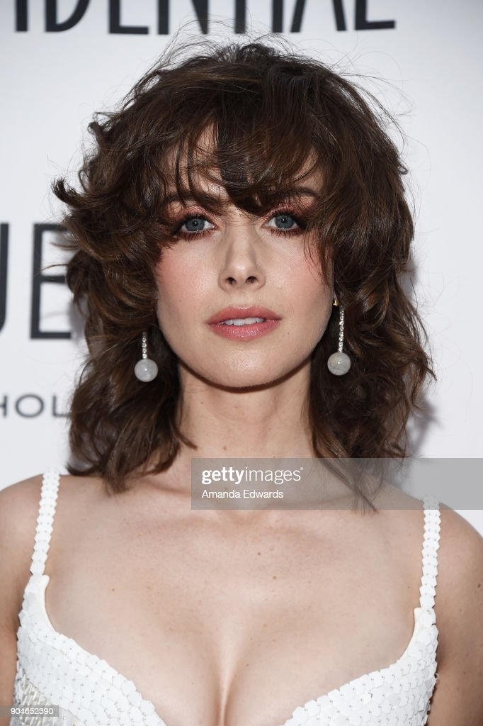 Actress Alison Brie arrives at the Los Angeles Confidential 'Awards Issue' Celebration hosted by cover stars Alison Brie, Milo Ventimiglia and Ana De Armas at The Jeremy Hotel on January 13, 2018 in West Hollywood, California.