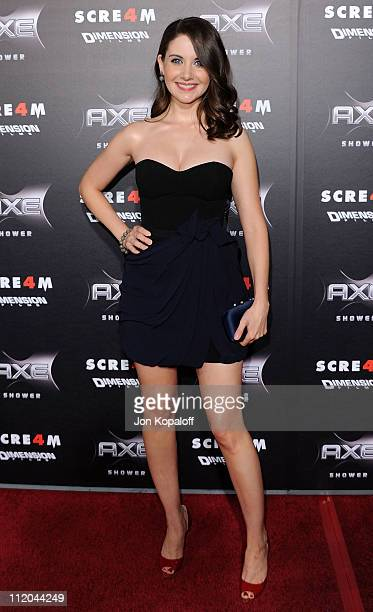 Actress Alison Brie arrives at the Los Angeles Premiere Scream 4 at Grauman's Chinese Theatre on April 11 2011 in Hollywood California