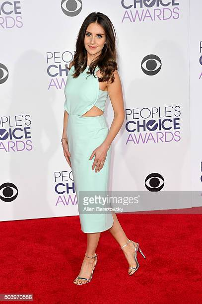 Actress Alison Brie arrives at the People's Choice Awards 2016 at Microsoft Theater on January 6 2016 in Los Angeles California