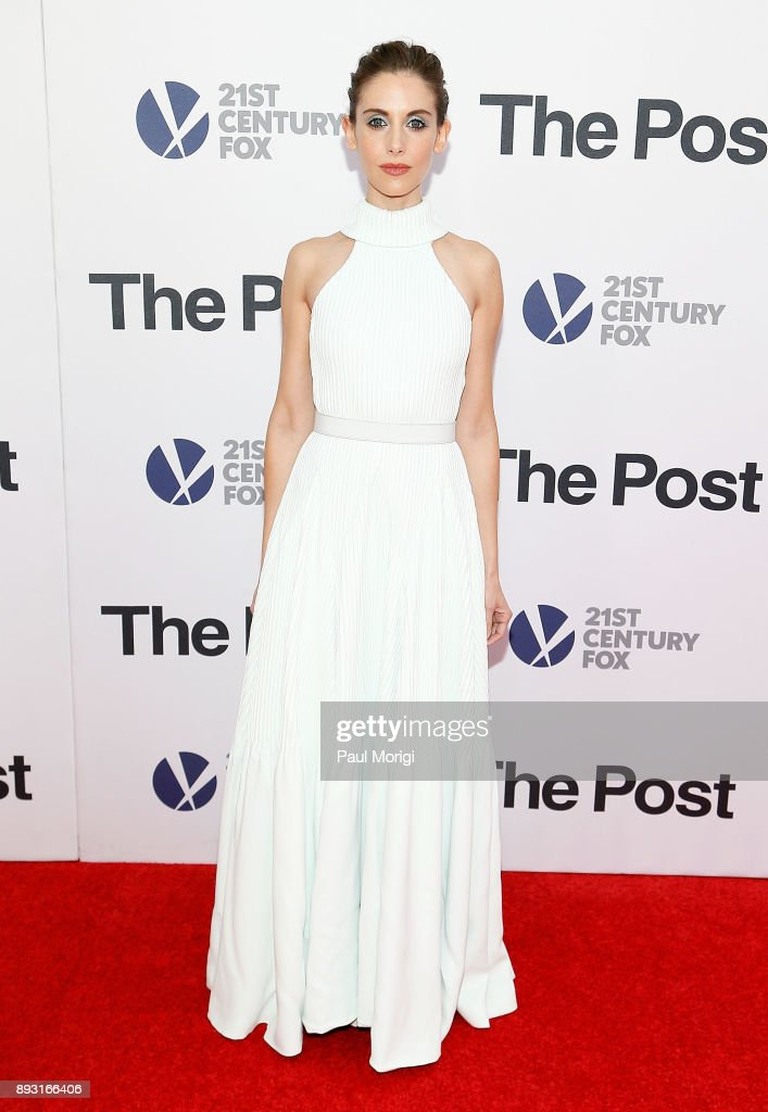 Actress Alison Brie arrives at 'The Post' Washington, DC Premiere at The Newseum on December 14, 2017 in Washington, DC.