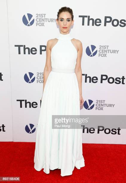 Actress Alison Brie arrives at 'The Post' Washington DC Premiere at The Newseum on December 14 2017 in Washington DC