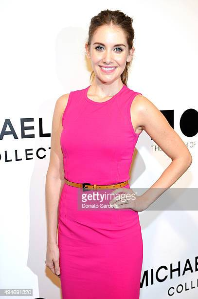 Actress Alison Brie attends Michael Kors Presents The Museum Of Contemporary Art's Distinguished Women In The Arts Luncheon at the Beverly Wilshire...