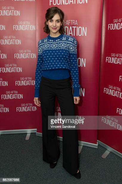 Actress Alison Brie attends SAGAFTRA Foundation Conversations screening of 'GLOW' at SAGAFTRA Foundation Screening Room on November 29 2017 in Los...