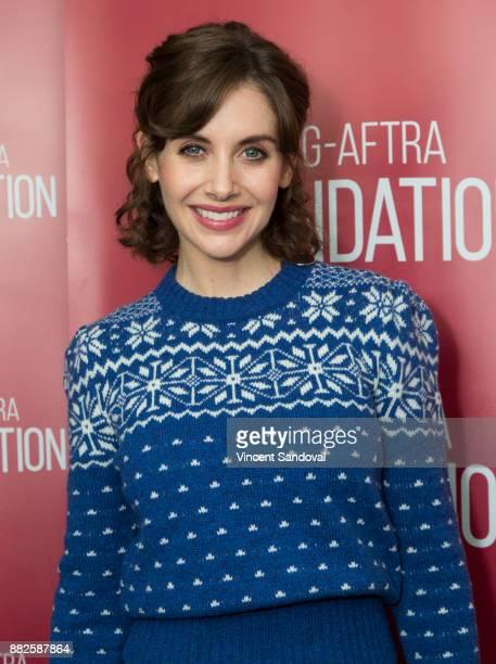 Actress Alison Brie attends SAGAFTRA Foundation Conversations screening of 'GLOW' at SAGAFTRA Foundation Screening Room on November 29 2017 in Los...