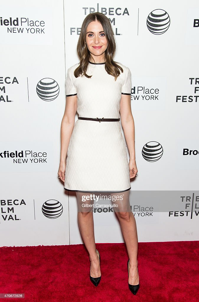 Actress Alison Brie attends the 2015 Tribeca Film Festival New York Premiere 'Sleeping With Other People' at BMCC Tribeca PAC on April 21, 2015 in New York City.