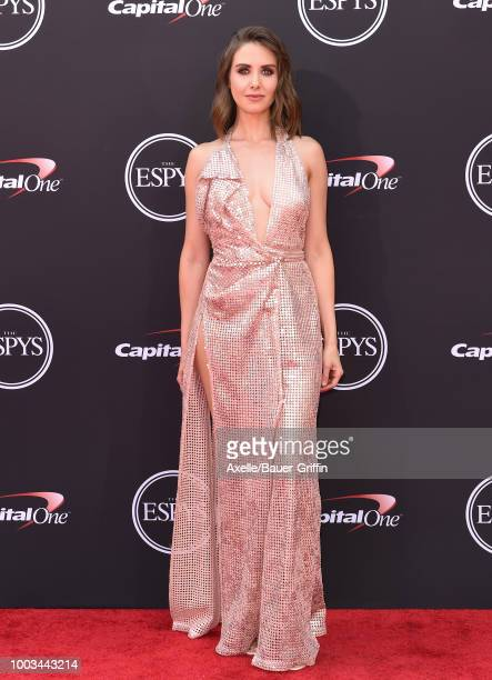 Actress Alison Brie attends The 2018 ESPYS at Microsoft Theater on July 18 2018 in Los Angeles California