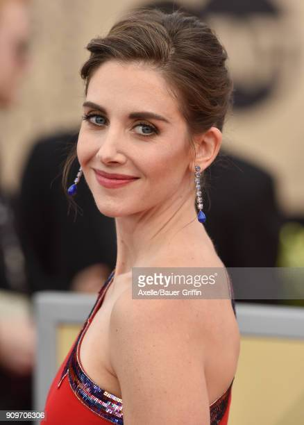 Actress Alison Brie attends the 24th Annual Screen Actors Guild Awards at The Shrine Auditorium on January 21 2018 in Los Angeles California