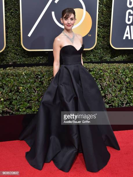 Actress Alison Brie attends the 75th Annual Golden Globe Awards at The Beverly Hilton Hotel on January 7, 2018 in Beverly Hills, California.