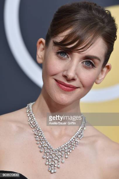 Actress Alison Brie attends the 75th Annual Golden Globe Awards at The Beverly Hilton Hotel on January 7 2018 in Beverly Hills California