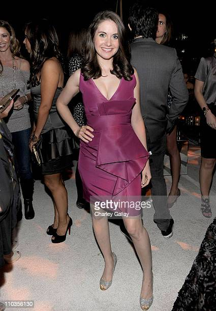 Actress Alison Brie attends the E 20th anniversary party celebrating two decades of pop culture with Ciroc Ultra Premium Vodka held at The London...