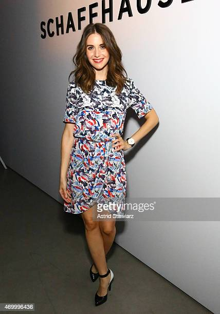 Actress Alison Brie attends the IWC Schaffhausen Third Annual 'For the Love of Cinema' Gala during the Tribeca Film Festival on April 16 2015 in New...