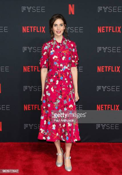 Actress Alison Brie attends the #NETFLIXFYSEE For Your Consideration event for GLOW at Netflix FYSEE At Raleigh Studios on May 30 2018 in Los Angeles...