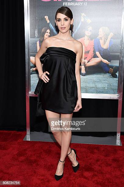 Actress Alison Brie attends the New York premiere of How To Be Single at the NYU Skirball Center on February 3 2016 in New York City