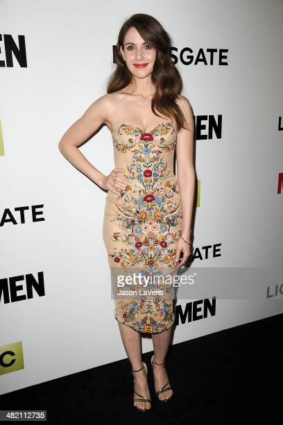 Actress Alison Brie attends the season 7 premiere of Mad Men at ArcLight Cinemas on April 2 2014 in Hollywood California