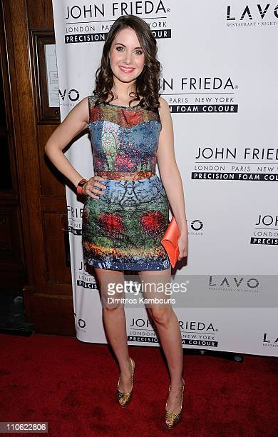 Actress Alison Brie attends the unvieling of The Decision a short film in support of the new Precision Foam Colour hosted by John Frieda and Katie...