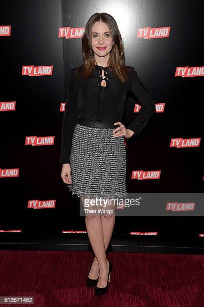 Actress Alison Brie attends Viacom Kids And Family Group Upfront Event at Frederick P Rose Hall Jazz at Lincoln Center on March 3 2016 in New York...