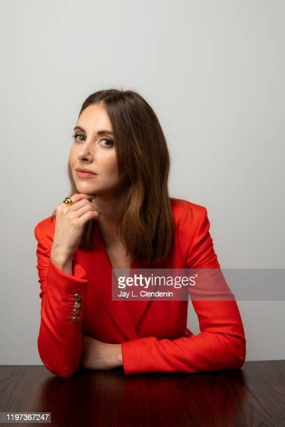 Actress Alison Brie from 'Horse Girl' is photographed in the LA Times Studio at the Sundance Film Festival on January 27 2020 in Park City Utah...