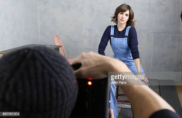 Actress Alison Brie from the film 'The Little Hours' poses for a portrait in the The Hollywood Reporter 2017 Sundance Studio At Sky Strada Day 1 2017...