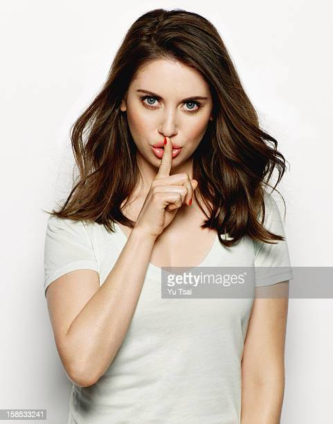 Actress Alison Brie is photographed for Glamour Magazine on February 11 2012 in Los Angeles California PUBLISHED IMAGE