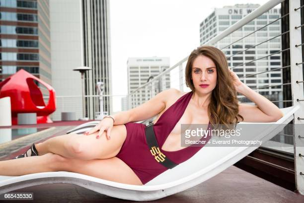 Actress Alison Brie is photographed for GQ Mexico on November 11 in Los Angeles California PUBLISHED IMAGE