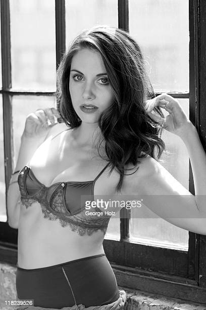 Actress Alison Brie is photographed for Men's Health Magazine on July 17 2010 in Los Angeles California