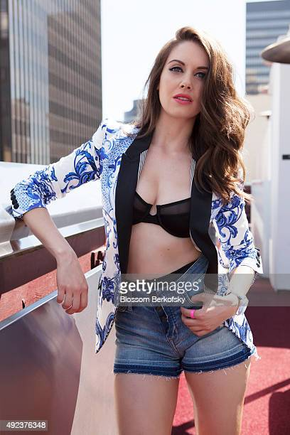 Actress Alison Brie is photographed for Nylon Guys on August 9 2012 in Los Angeles California