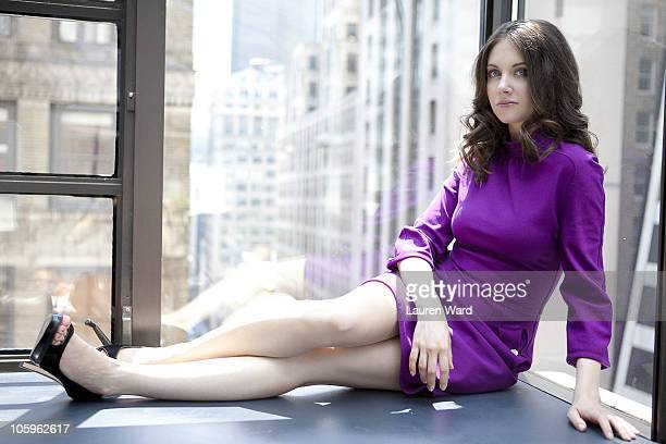 Actress Alison Brie poses at a portrait session for Nylon in New York NY on September 1 2010 Published Image