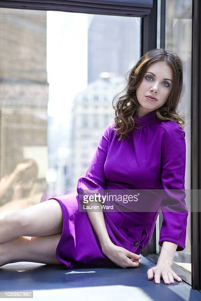 Actress Alison Brie poses at a portrait session for Nylon in New York NY on September 1 2010