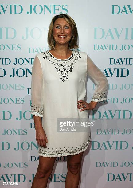Actress Alison Cratchley arrives at the David Jones Winter 2008 Collection Launch A Japanese Story at the Royal Hall of Industries Moore Park on...