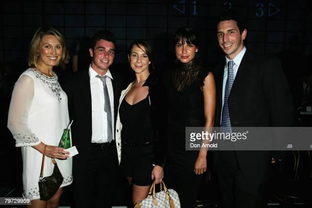 Actress Alison Cratchley Corbin Harris media personality Kate Ritchie actress Jodi Gordon and Ryan Stokes arrive at the David Jones Winter 2008...