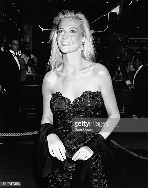 Actress Alison Doody attending the premiere of the movie 'Indiana Jones and the Last Crusade', July 6th 1989.