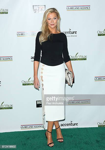 Actress Alison Doody attends the 2016 Oscar Wilde Awards at Bad Robot Studios on February 25 2016 in Santa Monica California