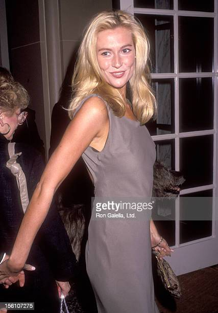 Actress Alison Doody attends the American Ireland Fund's Heritage Award Honoring Maureen O'Hara on November 6 1991 at Regent Beverly Wilshire Hotel...