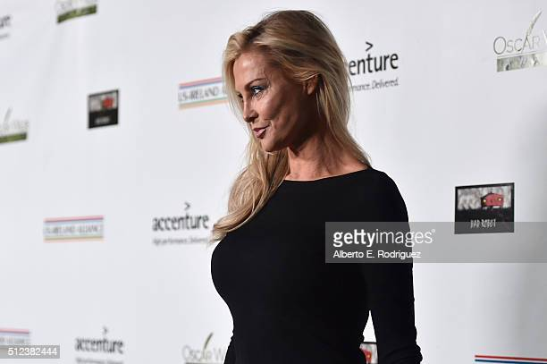 Actress Alison Doody attends the Oscar Wilde Awards at Bad Robot on February 25 2016 in Santa Monica California