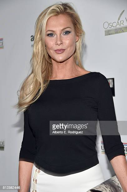 Actress Alison Doody attends the Oscar Wilde Awards at Bad Robot on February 25, 2016 in Santa Monica, California.