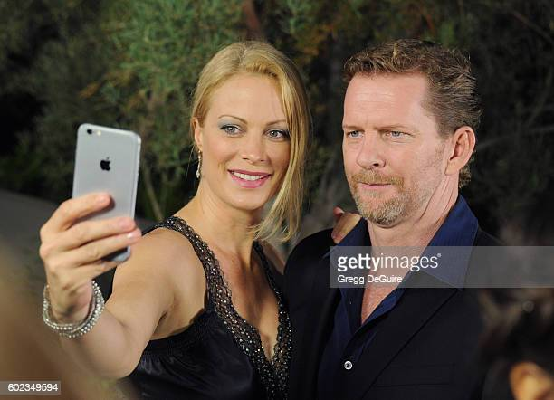 Actress Alison Eastwood and husband Stacy Poitras arrive at Mercy For Animals Hidden Heroes Gala 2016 at Vibiana on September 10, 2016 in Los...