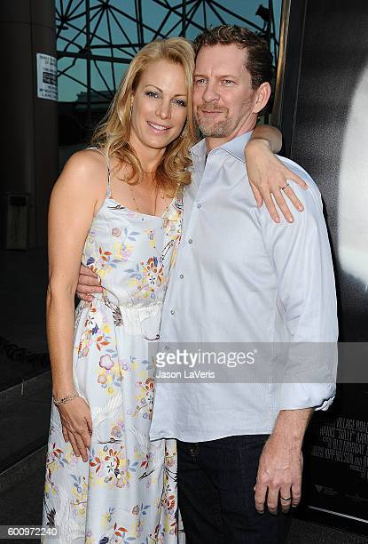Actress Alison Eastwood and husband Stacy Poitras attend a screening of 'Sully' at Directors Guild Of America on September 8 2016 in Los Angeles...