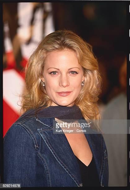 Actress Alison Eastwood in Denim Blazer