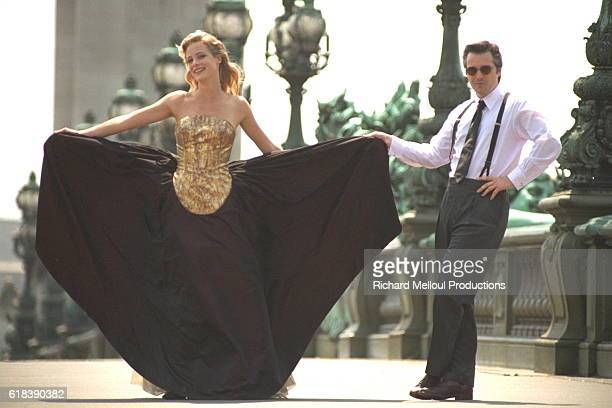Actress Alison Eastwood Modeling in Paris