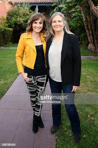 Actress Alison Haislip and writer/video game director Amy Hennig attend the BAFTA LA celebrates Amy Hennig at the Chaplin Theater at Raleigh Studios...