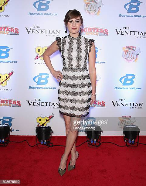 Actress Alison Haislip attends the eighth annual Fighters Only World Mixed Martial Arts Awards at The Palazzo Las Vegas on February 5 2016 in Las...