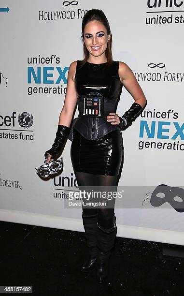 Actress Alison Haislip attends UNICEF's Next Generation's 2nd Annual UNICEF Masquerade Ball at Hollywood Forever Cemetery on October 30 2014 in Los...