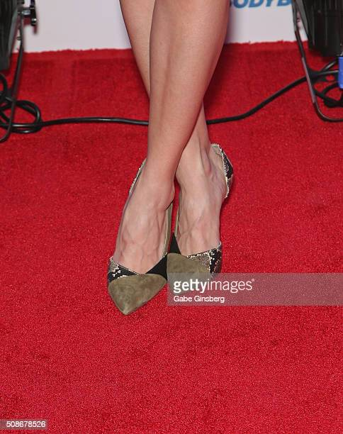 Actress Alison Haislip shoes detail attends the eighth annual Fighters Only World Mixed Martial Arts Awards at The Palazzo Las Vegas on February 5...