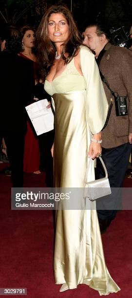 Actress Alison Heruth Waterbury arrives at the 13th Annual Night of 100 Stars Oscar Viewing Black Tie Gala February 29 2004 at the Beverly Hills...